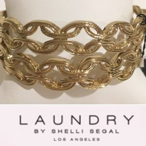 NWT Laundry by Shelli Segal Gold Fashion Bangles